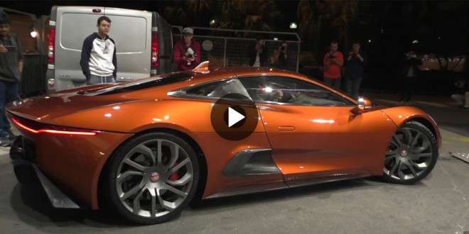Jaguar C-X75 engine start-up and  revving sounds awesome