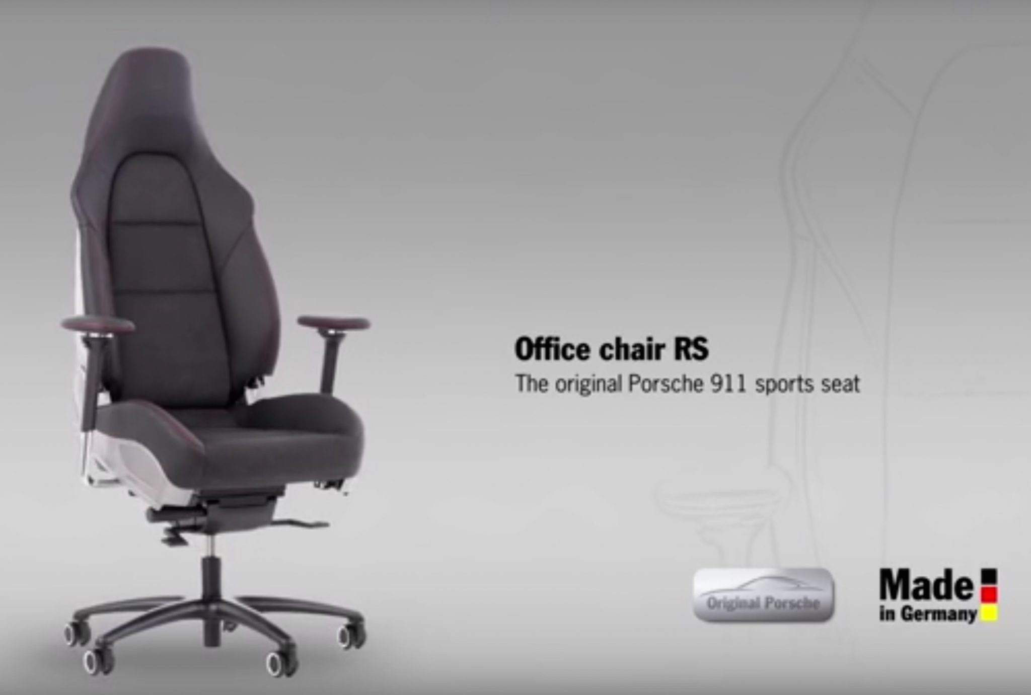 The ultimate office chair for the ultimate Porsche enthusiast
