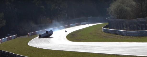 renaultsport megane r.s. crash at nurburgring
