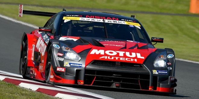 Super GT: Nissan GT-R takes pole at Fuji 500 [video]