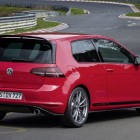 2016 volkswagen golf gti clubsport s red rear quarter