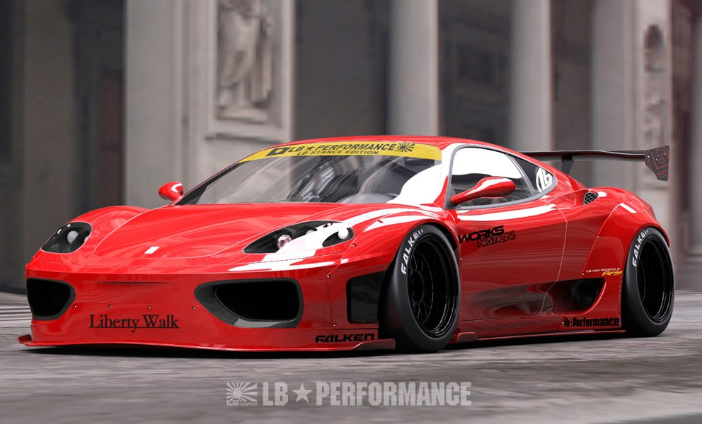 tuning news ferrari 360 modena in full liberty walk attire. Black Bedroom Furniture Sets. Home Design Ideas
