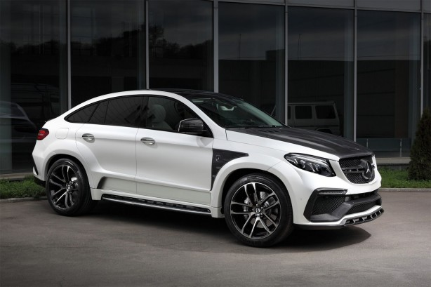 mercedes amg gle coupe with topcar inferno kit front quarter