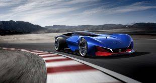 peugeot l500 r hybrid concept front quarter
