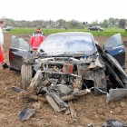 tesla model s crash in germany front