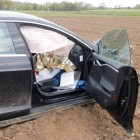 tesla model s crash in germany interior