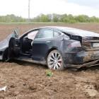 tesla model s crash in germany rear quarter