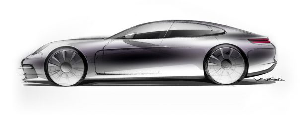 2017-porsche-panamera-side-profile-sketch