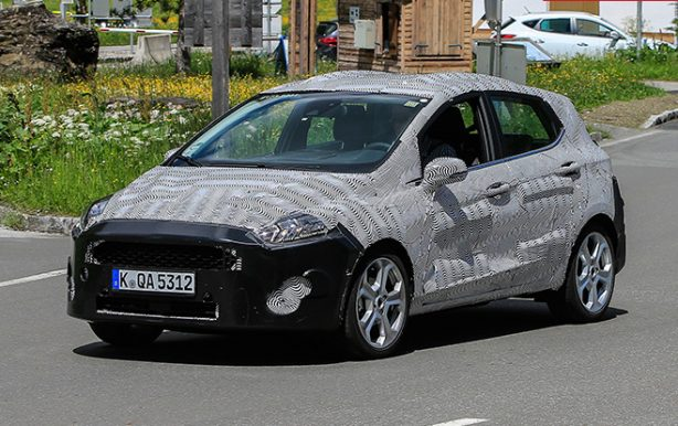 2018 ford fiesta spy photo front quarter