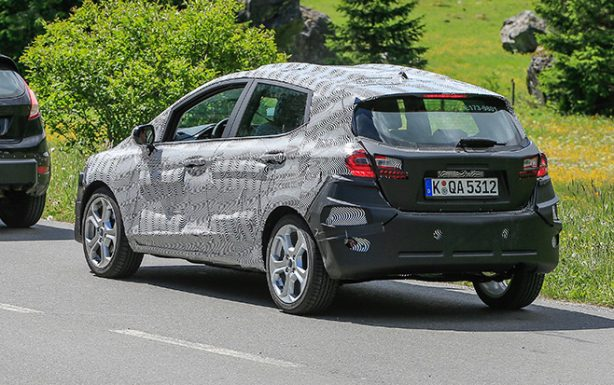 2018 ford fiesta spy photo rear quarter