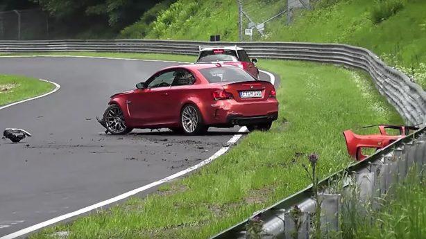 bmw-1-series-m-coupe-crash at nurburgring