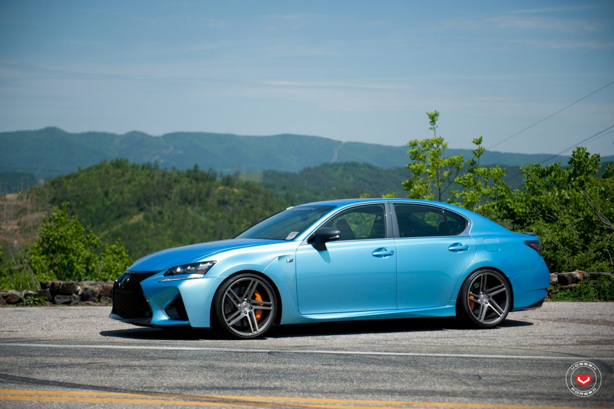 lexus gs f goes aggressive with vossen wheels. Black Bedroom Furniture Sets. Home Design Ideas