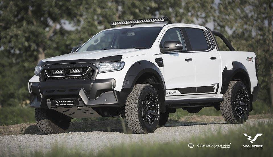 m sport tuned ford ranger gets 39 baby raptor 39 look. Black Bedroom Furniture Sets. Home Design Ideas