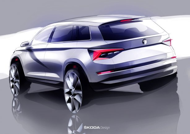 skoda kodiaq rear quarter sketch