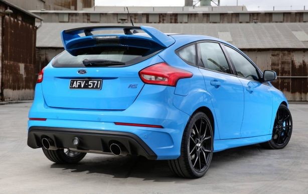 2016 ford focus rs launch rear quarter