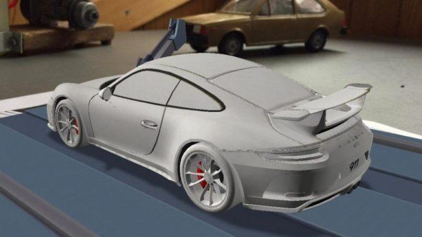 2017 porsche 911 gt3 rear quarter render