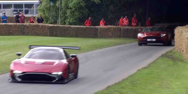 Aston Martin DB11 takes on the Vulcan at Goodwood Hill Climb