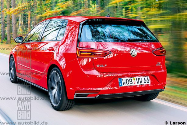 volkswagen golf viii render rear