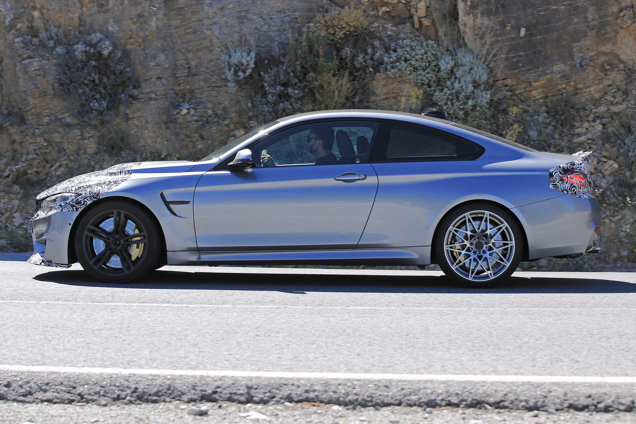 2017 bmw m4 coupe spied with minor updates. Black Bedroom Furniture Sets. Home Design Ideas