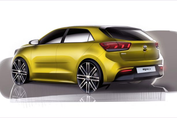 2017 kia rio sketch rear quarter