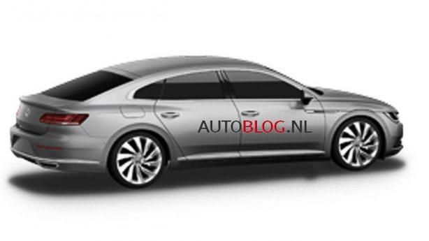 2017 volkswagen cc leaked image rear quarter