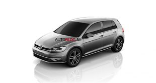 2017 volkswagen golf facelift leaked front quarter