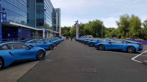 bmw i8 gifted to leicester city players
