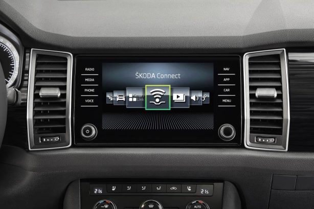 skoda kodiaq infotainment screen