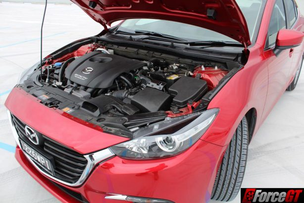 2016 Mazda 3 Maxx sedan engine bay
