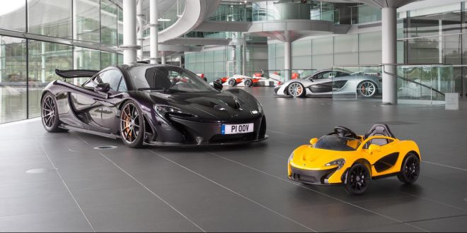 McLaren P1 loses its top and goes EV… for six year olds