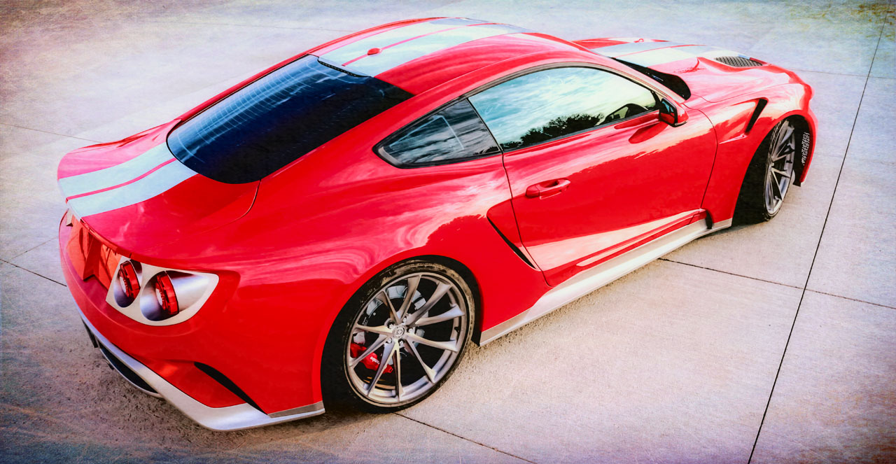 zero to 60 designs to unveil ford mustang and ford gt mashup at sema. Black Bedroom Furniture Sets. Home Design Ideas