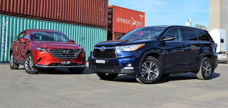 Large Suv Showdown Mazda Cx 9 Vs Toyota Kluger Review