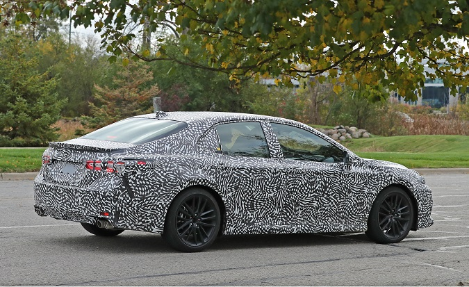 next gen toyota camry spied high performance version in the cards forcegt. Black Bedroom Furniture Sets. Home Design Ideas