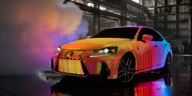 LED-Wrapped Lexus IS interacts with sounds and gestures [video]