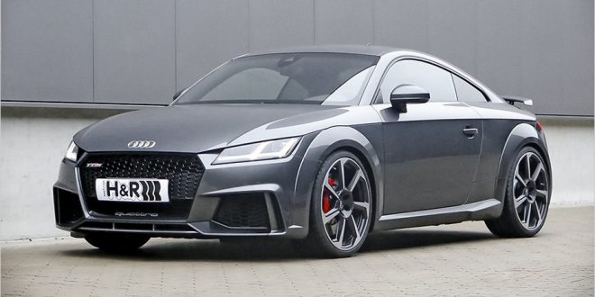 How does the Audi TT RS look lowered? H&R shows us
