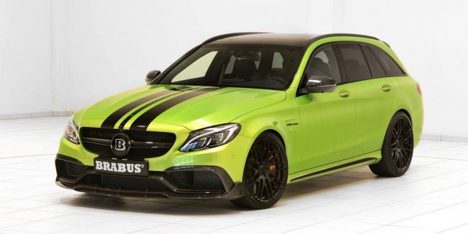 This radioactive green Brabus 650 C63 S packs 478kW