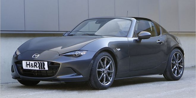 Mazda MX-5 RF dropped on H&R springs and spacer package