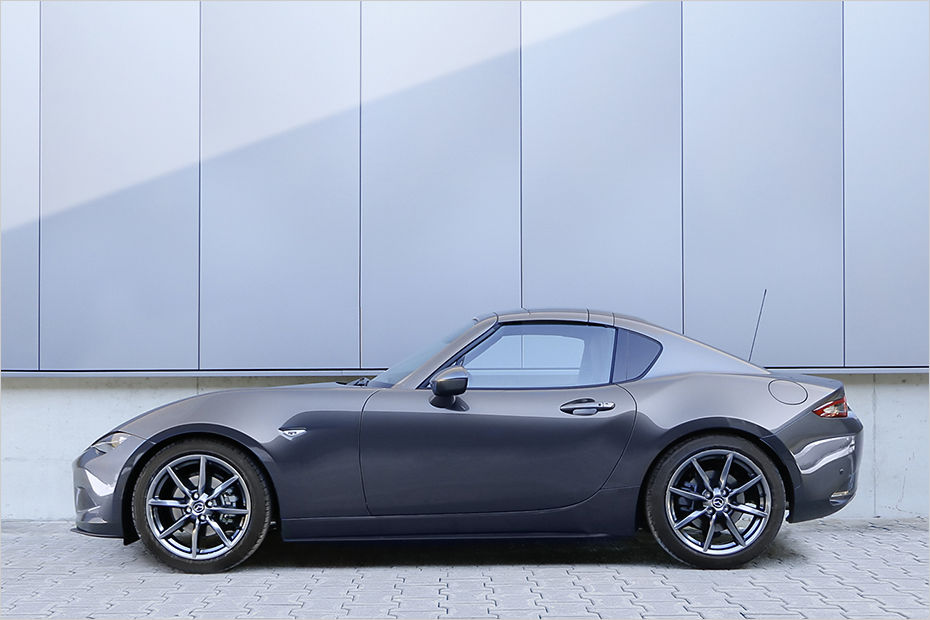 mazda mx-5 rf dropped on h&r springs and spacer package - forcegt
