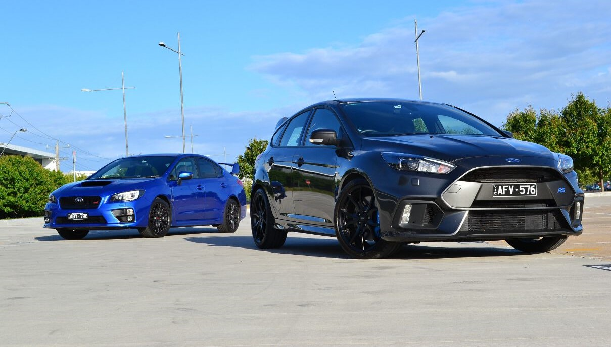 Head To Head Subaru Wrx Sti Vs Ford Focus Rs Review Forcegt Com