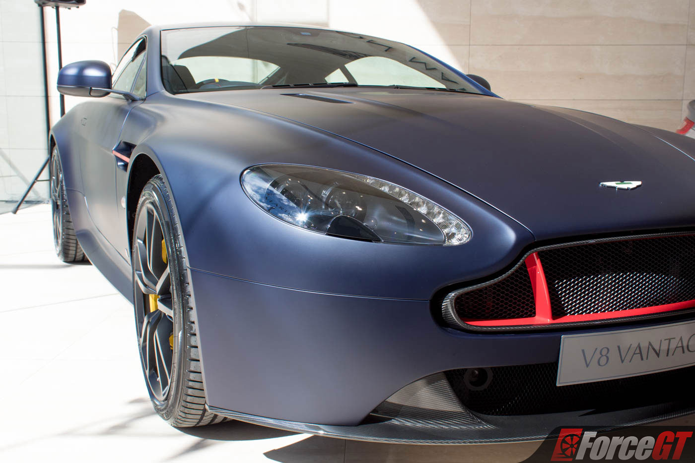 Aston Martin Vantage S Red Bull Racing Edition Front Close Up on Aston Martin V12 Vantage S Revealed
