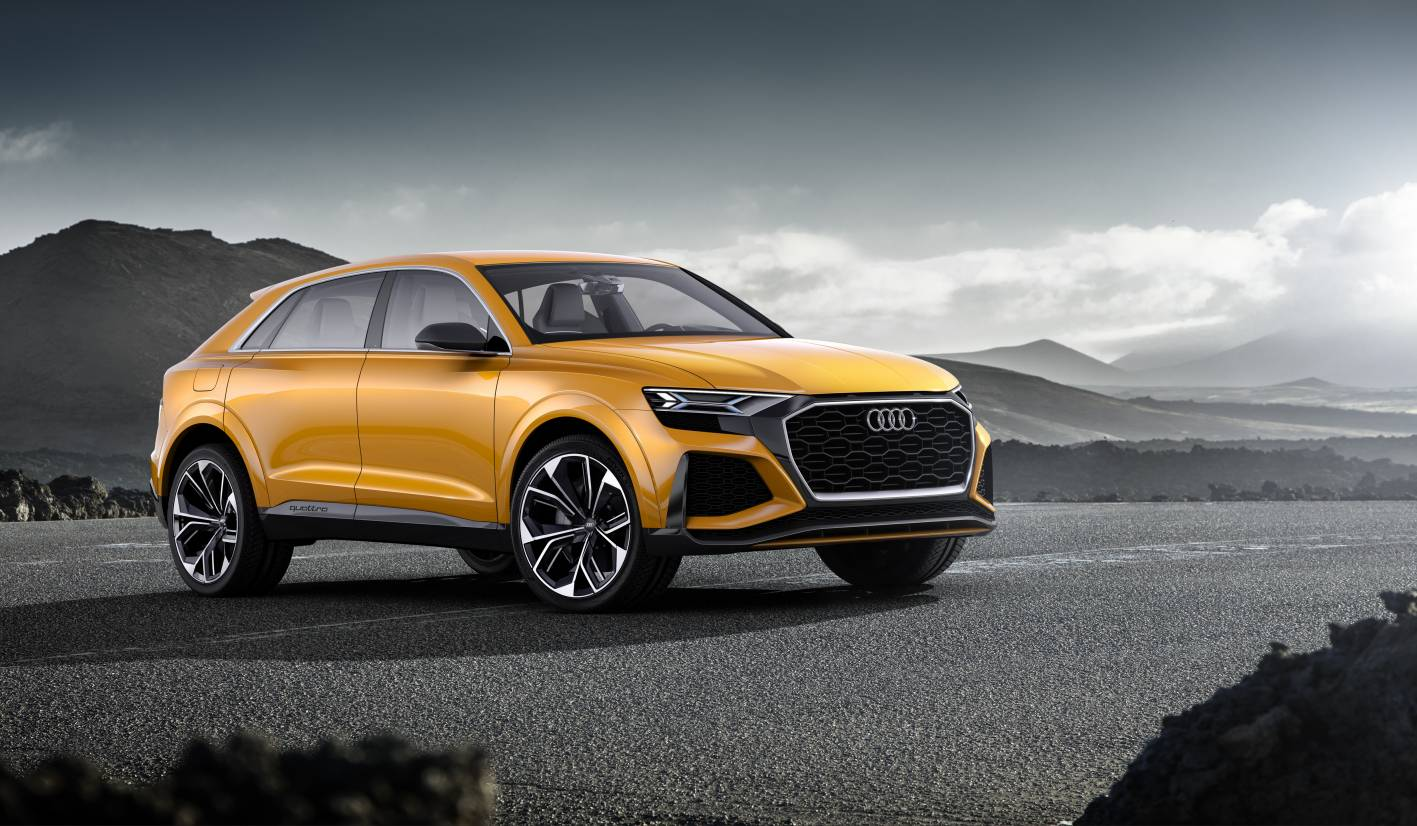 audi q8 sport concept debuts new mild hybrid powertrain. Black Bedroom Furniture Sets. Home Design Ideas