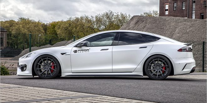 Tesla Model S goes aggressive with Prior Design bodykit