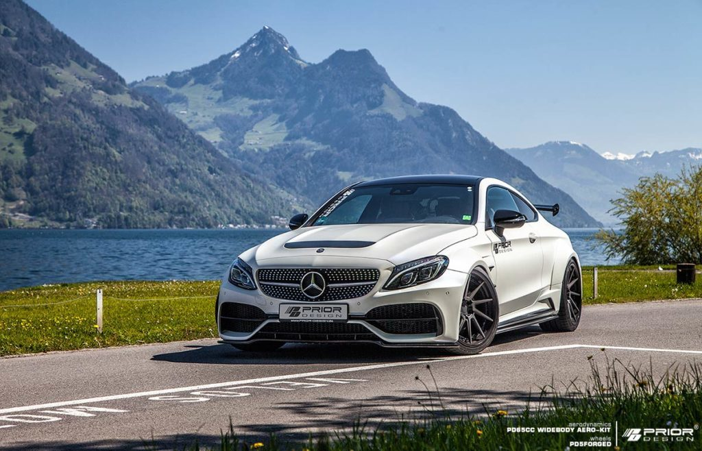 Prior design unleashes widebody kit for mercedes c class coupe - Mercedes c class coupe body kit ...