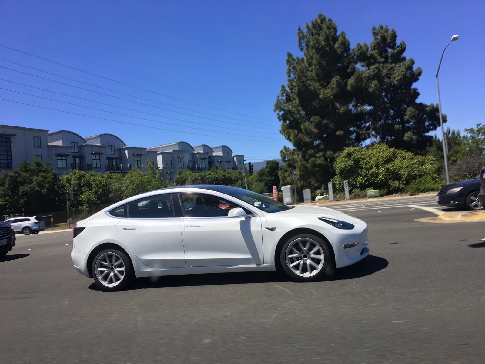 spied tesla model 3 caught without camo for the first time. Black Bedroom Furniture Sets. Home Design Ideas