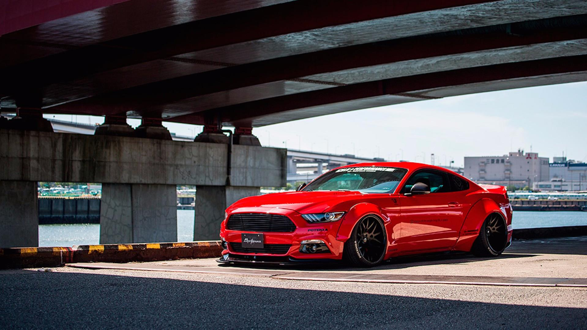 2017 Mustang Shelby Gt350 Black >> Ford Mustang gets Liberty Walk extra low and wide treatment - ForceGT.com