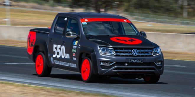 Custom-built Volkswagen Amarok V6 leaps Golf GTI at WTAC