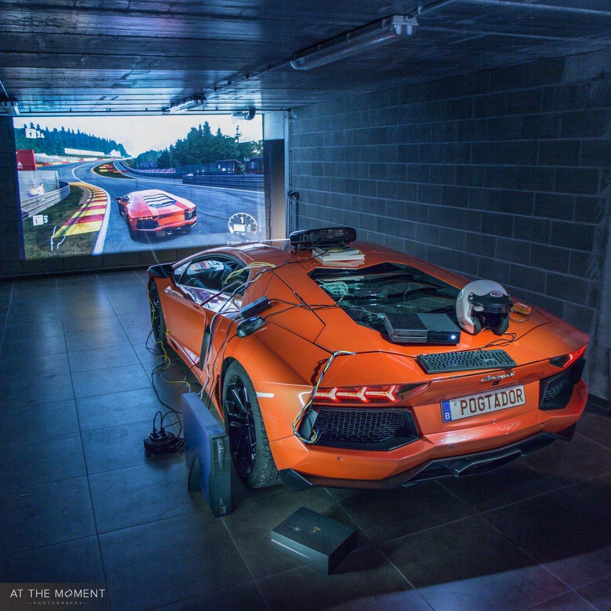 Lamborghini Aventador Turned Into Driving Simulator