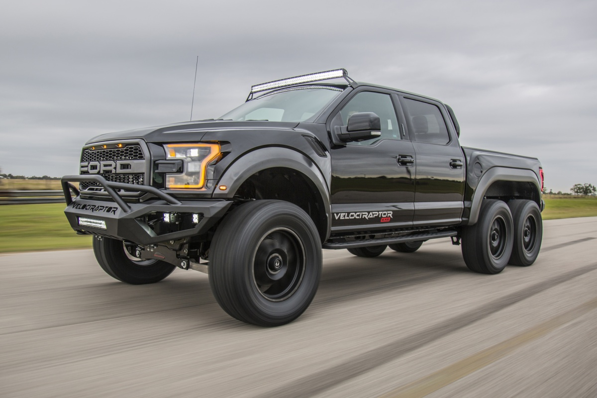 Hennessey VelociRaptor 6x6 is pure aggression on wheels ...