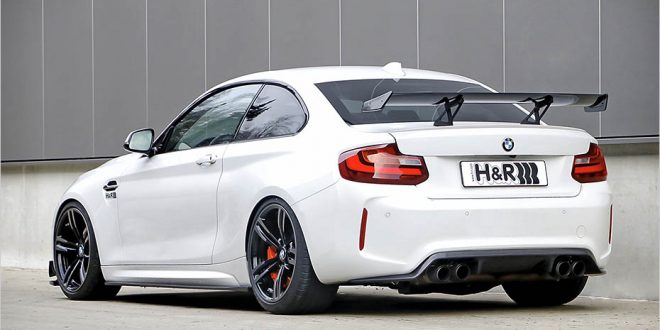 BMW M2 dropped on H&R springs