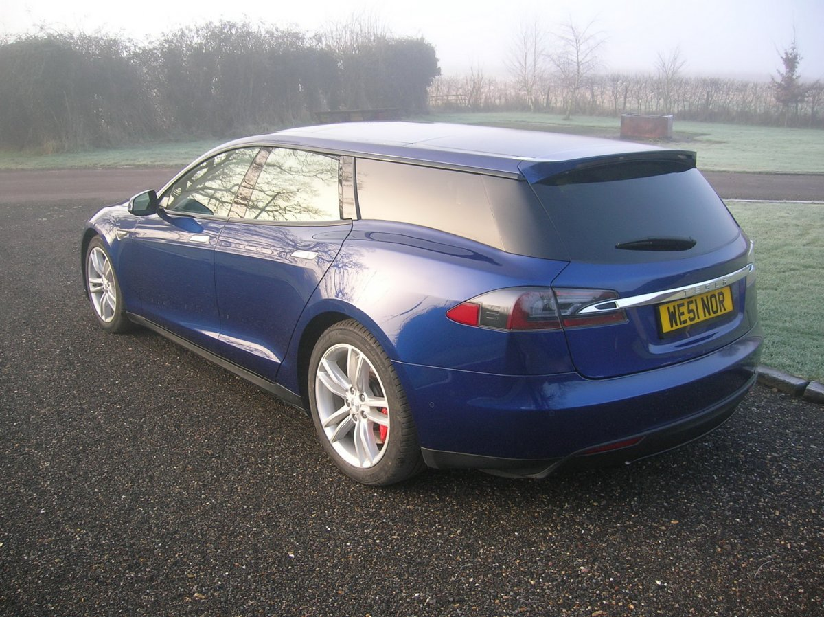 bespoke tesla model s shooting brake hitting london motor show. Black Bedroom Furniture Sets. Home Design Ideas